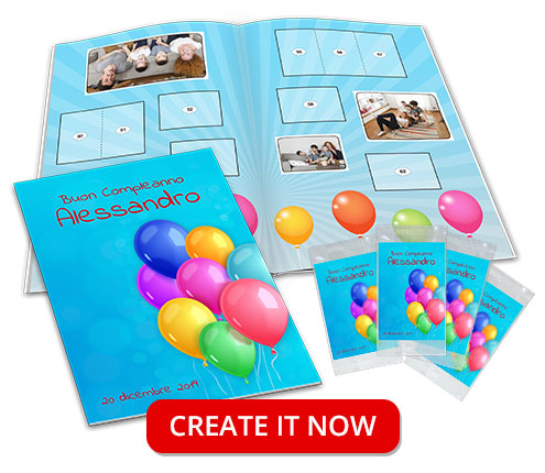 customized birthday gift stickers album
