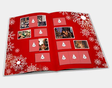 Christmas stickers album