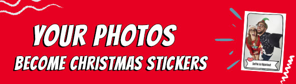 your photos become christmas stickers