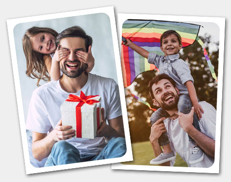 customized father's day gift stickers album