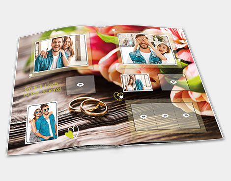 customized marriage gift stickers album