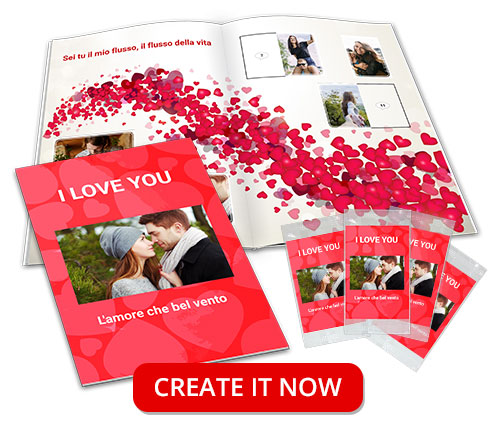 customized love story stickers album